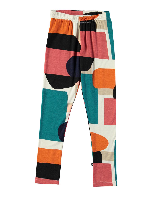 Niki Multicolored Geometric Leggings, Size 4-14