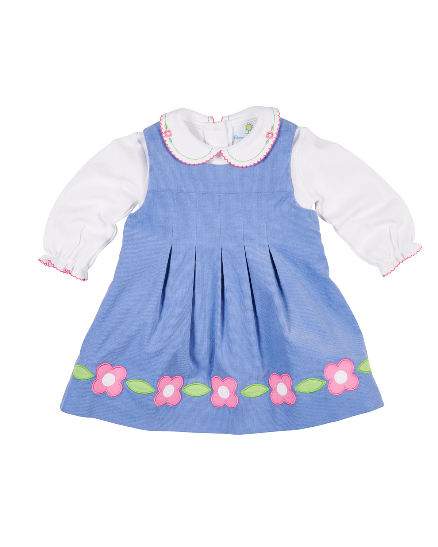 7f3d25d3c60b Corduroy Flower Dress w  Peter Pan-Collar Top