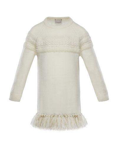 37956553715 Quick Look. Moncler · Mixed-Knit Sweater Dress w  Metallic ...