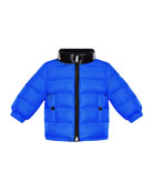 Moncler Clans Quilted Jacket w/ Contrast Stand Collar,