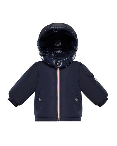 Jonquieres Contrast-Hood Jacket, Size 12M-3