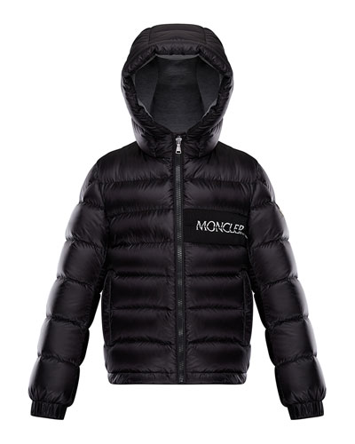 grey moncler hooded jacket