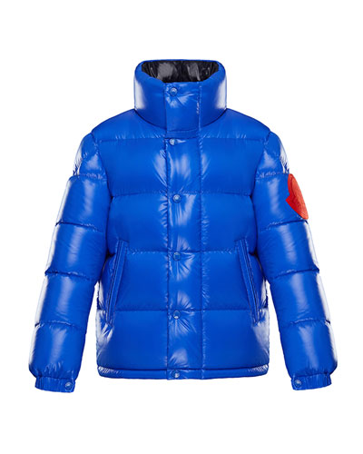 moncler blue padded jacket