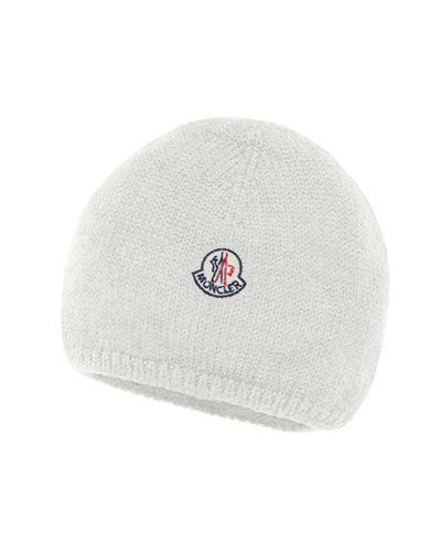 e6ac4558702 Quick Look. Moncler · Kids  Logo-Patch Knit Virgin Wool Beanie Hat