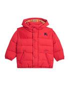 Burberry Ezra Hooded Puffer Coat, Size 4-14