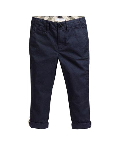 e6321a18ffa1 Straight Cotton Twill Pants