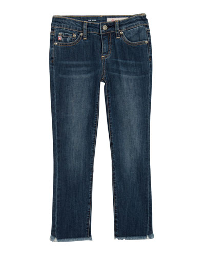 Girls' Jessa Fringe-Trim Skinny Jeans, Size 7-14