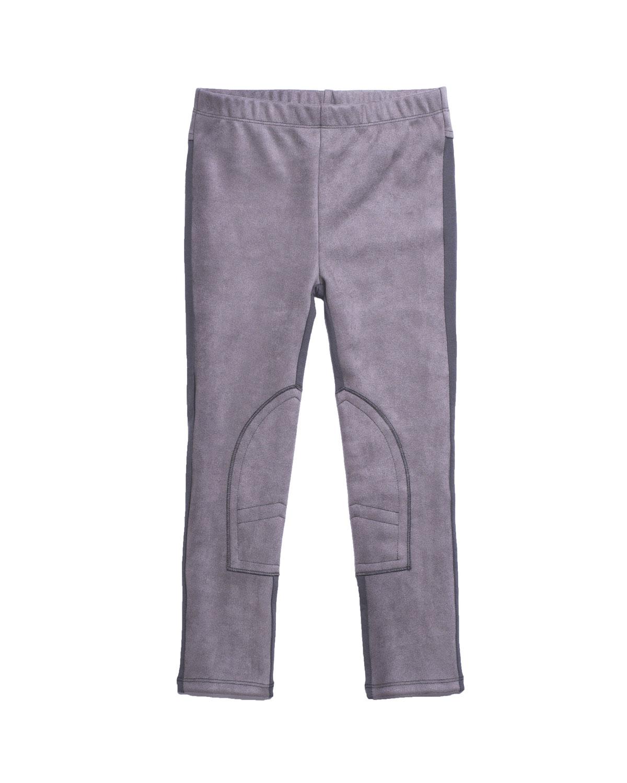 Stretch Faux-Suede Contrast-Back Pants, Size 8-14