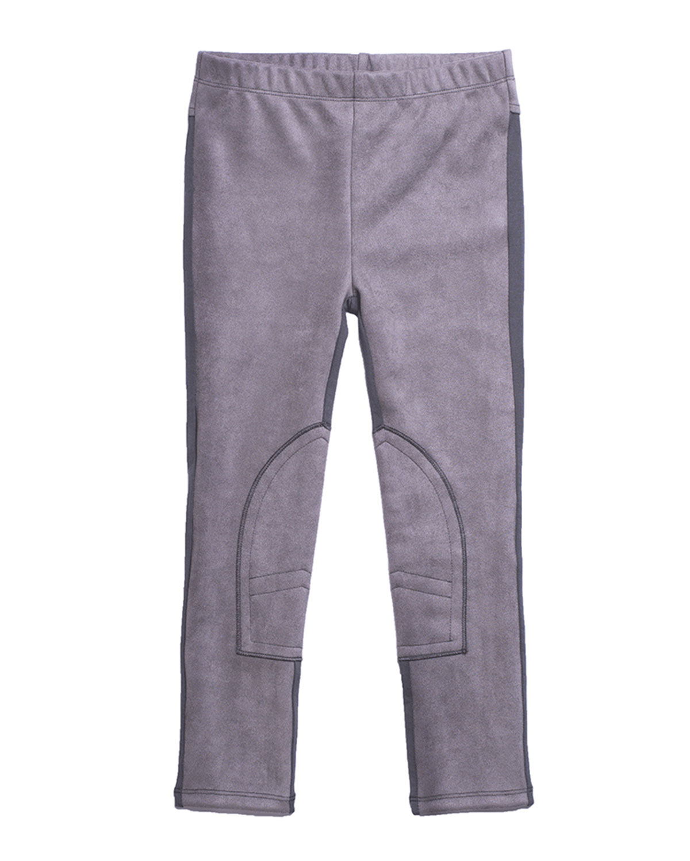 Stretch Faux-Suede Contrast-Back Pants, Size 2-6