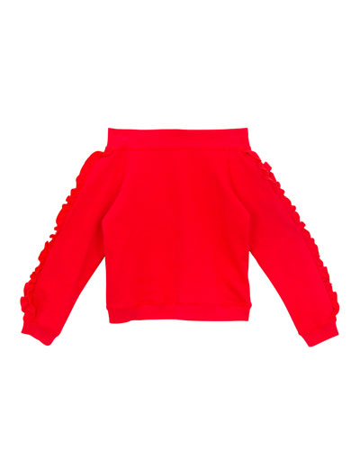 Girls' Karina Knit Off-the-Shoulder Top, Size S-XL