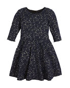 Zoe Mimi Metallic Knit Swing Dress, Size 7-16