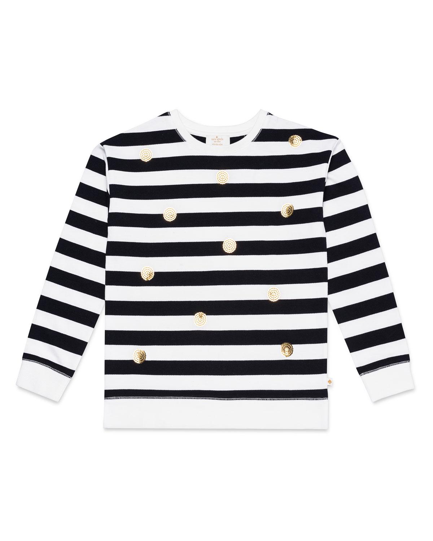 striped sequin dot sweatshirt size 714