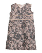 Helena Diamond Knit Sleeveless Dress, Size 2-6