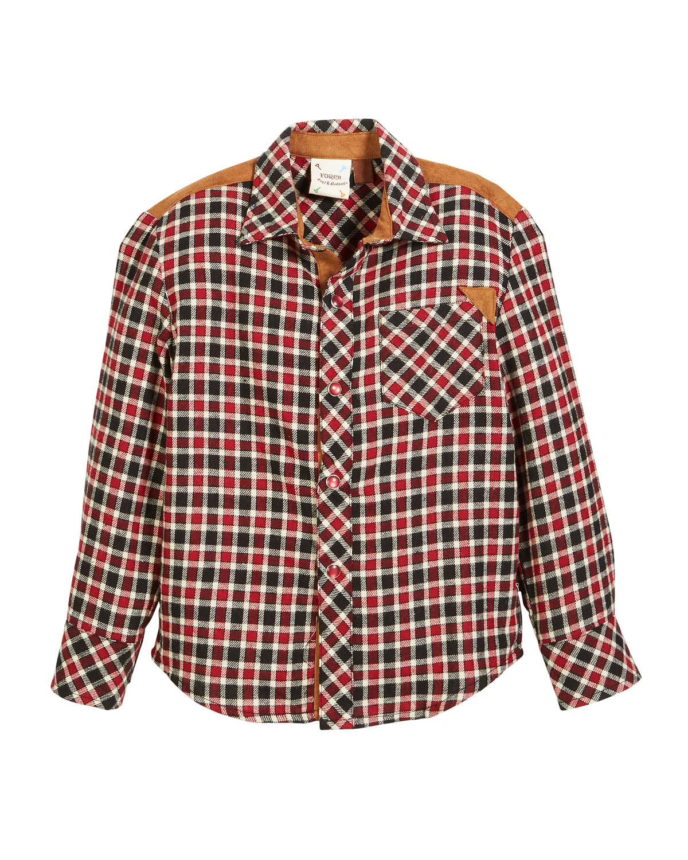 Study Hall Plaid Flannel Shirt, Size 2-8