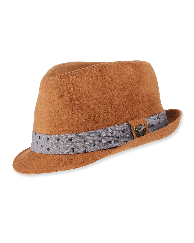 Boys Sueded Fedora Hat