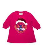 Kenzo Flip Sequin Santa Tiger Sweatshirt Dress, Size