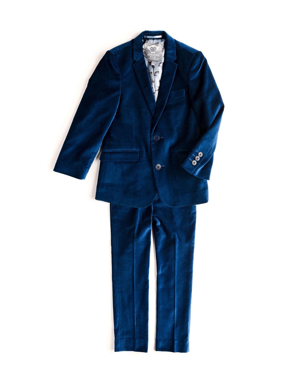 Boys TwoPiece Mod Velvet Suit 214