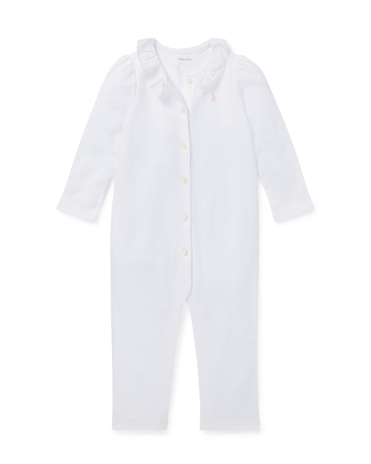 Ruffle-Collar Coverall, Size 3-12 Months