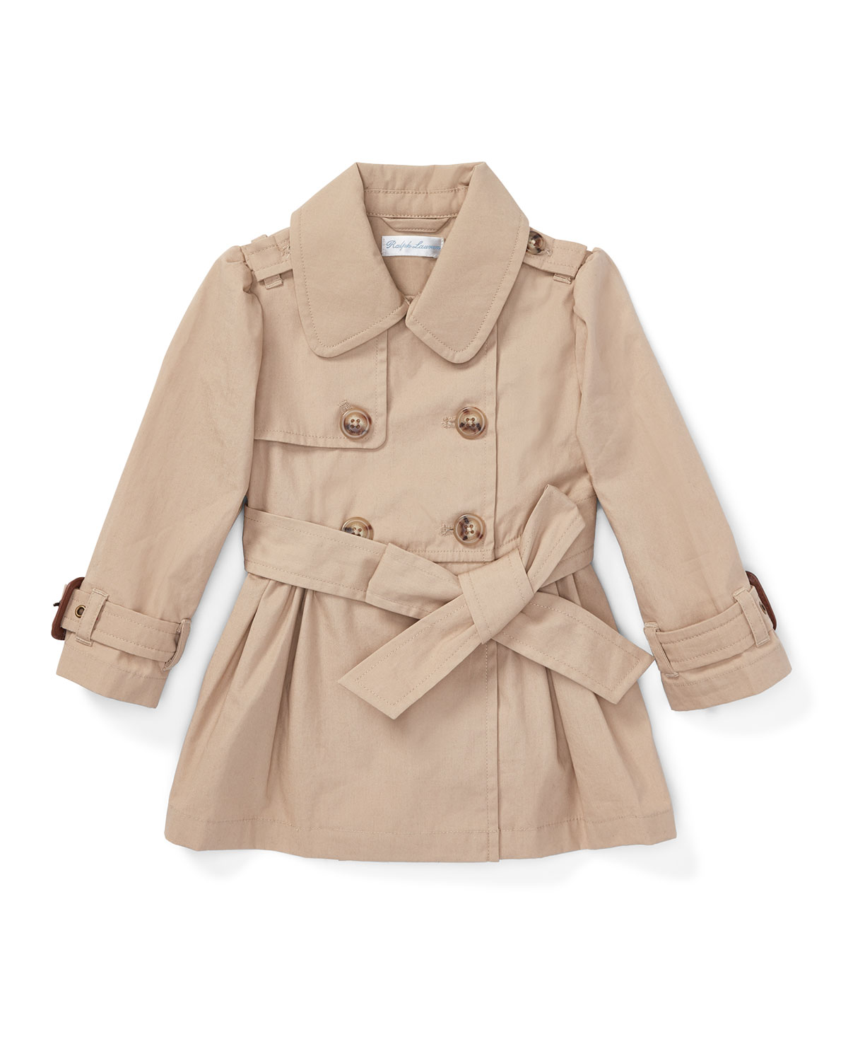 High Density Cotton Trench Coat, Size 12-14 Months