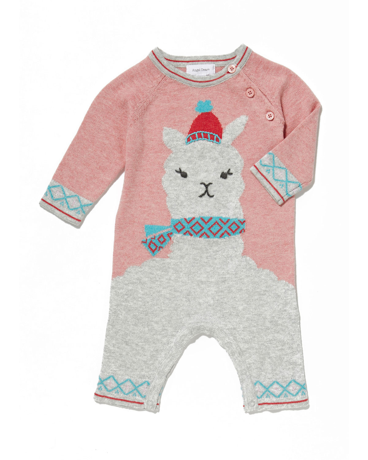 Llama Intarsia Knit Coverall, Size 0-12 Months