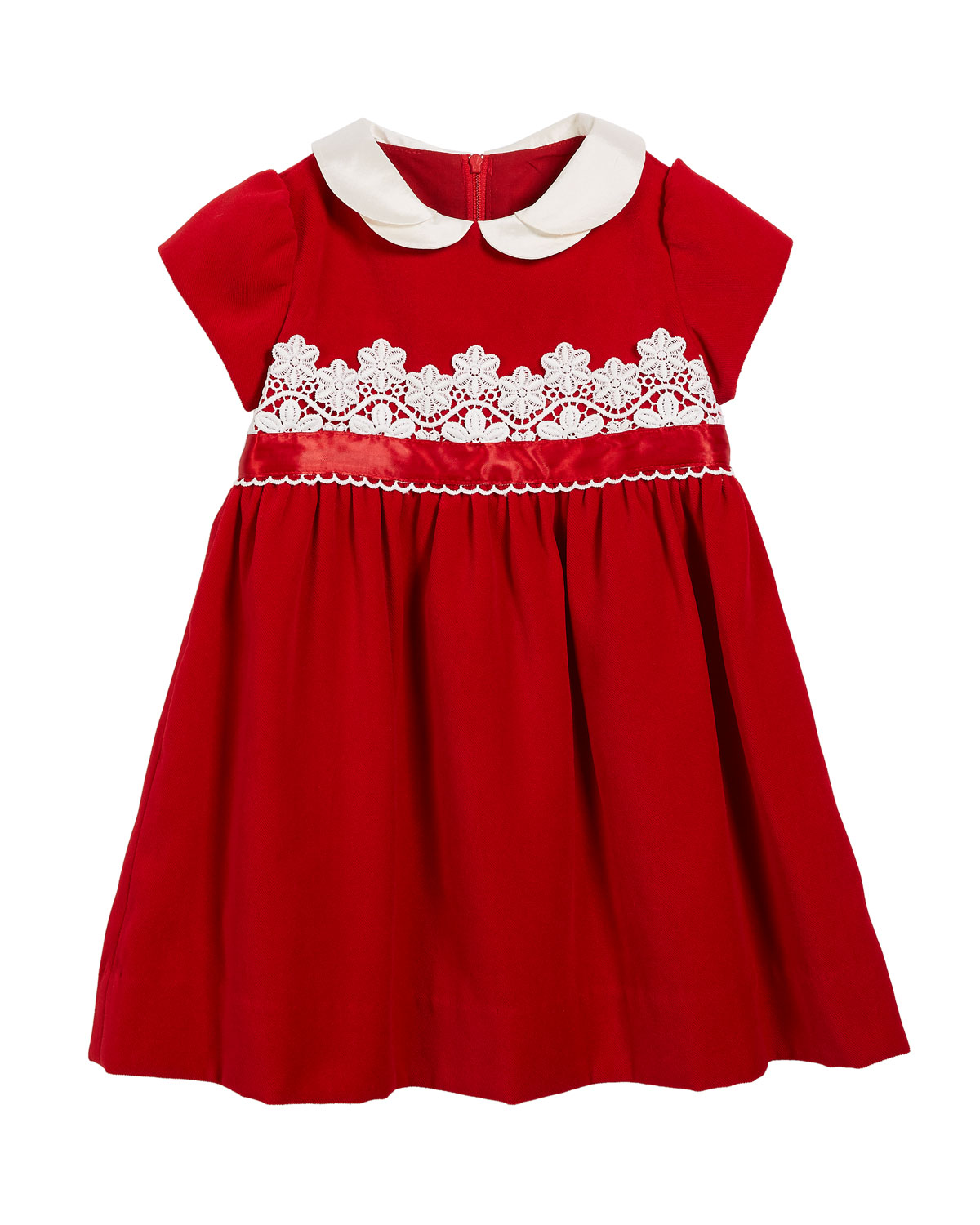 Velvet LaceTrim Dress Size 324 Months