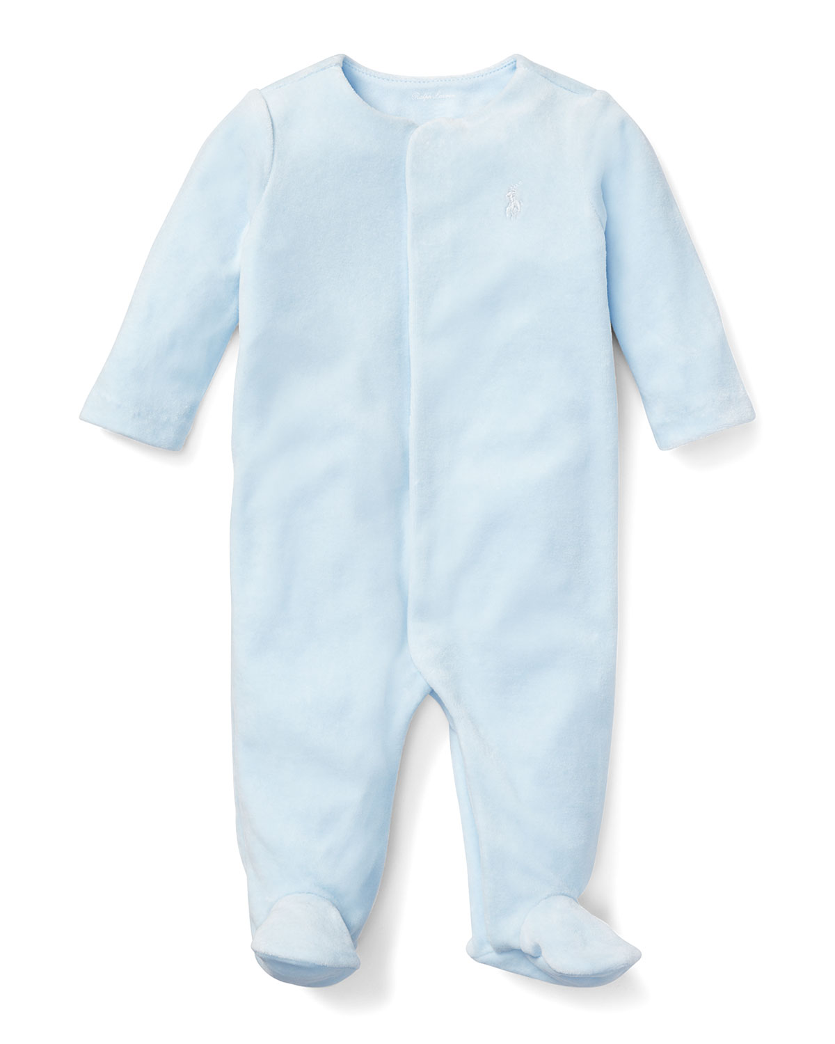 Solid Footie Pajamas, Size 3-9 Months