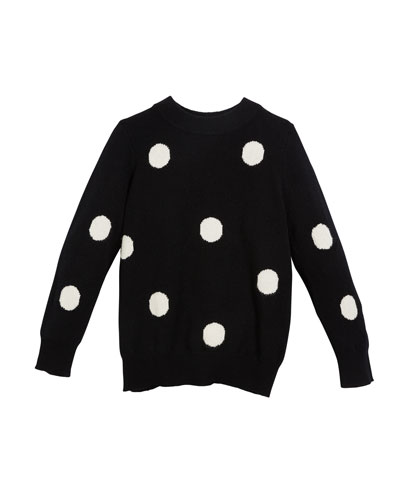 Gemma Polka-Dot Sweater, Size 6-14