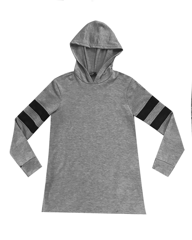 Hoodie Tunic w Fishnet Insets Kid Girls Size SXL
