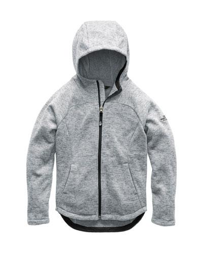 Indi Heathered Fleece Hooded Jacket, Size XXS-XL