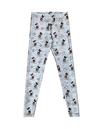 Heathered Mickey Mouse Leggings, Size 7-16