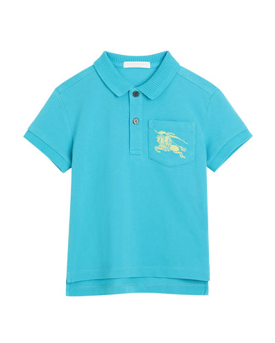 Grant Knit Pique Short-Sleeve Polo, Size 3-14