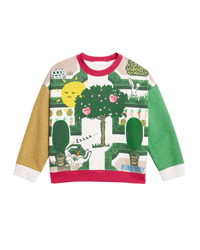 Garden Maze Colorblock Long-Sleeve Shirt, Size 3-14