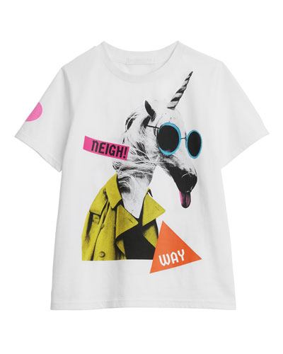 Unicorn Graphic Short-Sleeve Tee, Size 3-14