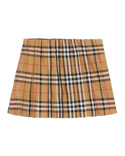 b82398ce79 Quick Look. Burberry · Pearl Check Pleated Skirt ...