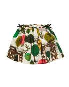 Burberry Kendil Garden-Print A-Line Skirt, Size 3-14
