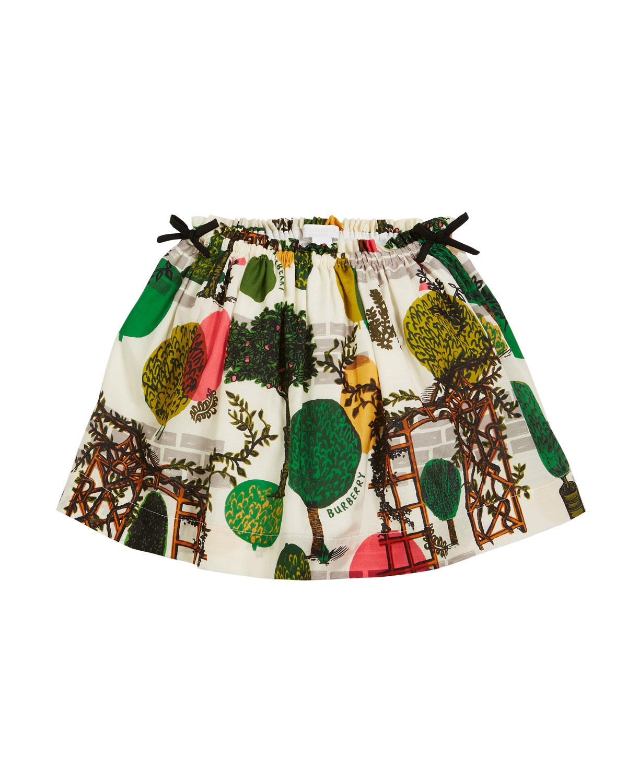 Kendil Garden-Print A-Line Skirt