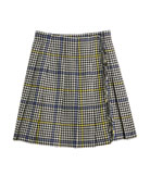 Burberry Klorrian Wool Houndstooth Check Skirt, Size 3-14