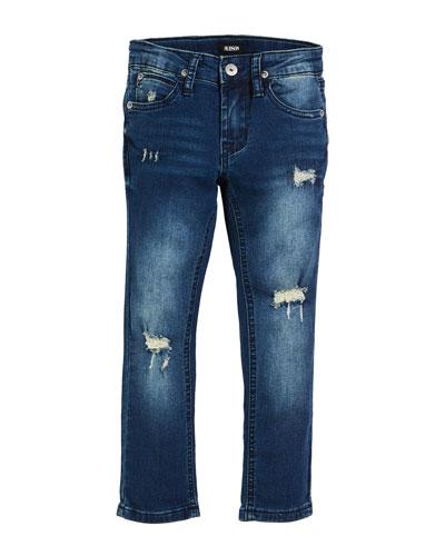 Boys' Jude Distressed Straight-Leg Jeans, Size 4-7