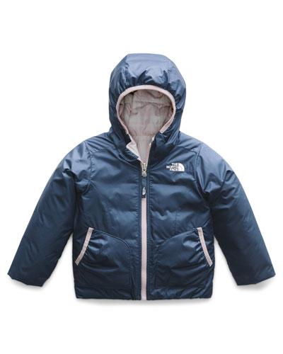 Perrito Reversible Hooded Taffeta Jacket, Size 2-4T