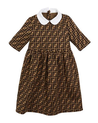 8f864002386 Quick Look. Fendi · FF Jacquard Peter Pan-Collar Dress