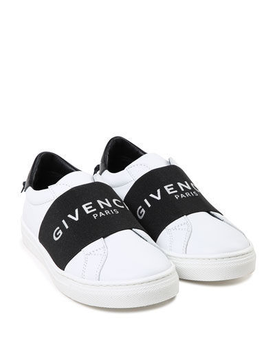 Two-Tone Logo Band Sneakers, Toddler