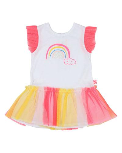 Jersey & Tulle Rainbow Dress, Size 12M-3