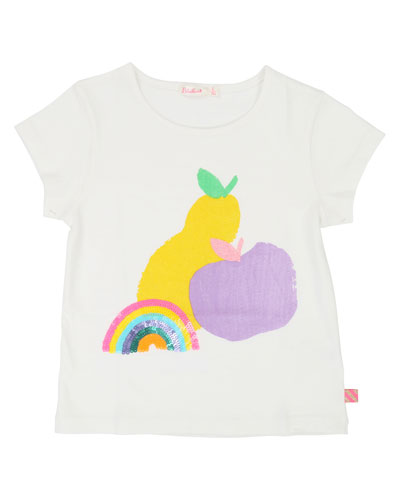 Rainbow & Fruit Short-Sleeve Tee, Size 4-12