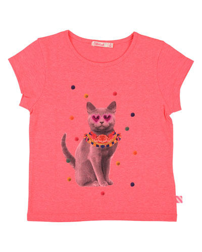 Party Cat Graphic Tee, Size 4-12