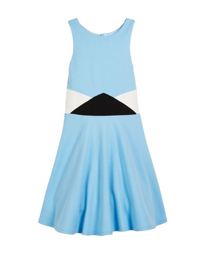 The Sky Colorblock Ponti Dress, Size S-XL