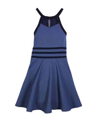 The Bella Halter Flare Dress, Size S-XL