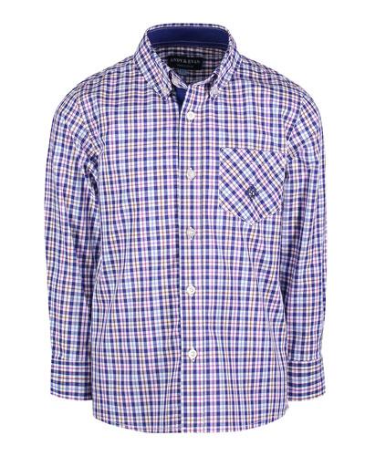 Long-Sleeve Plaid Button-Down Shirt, Size 2-7