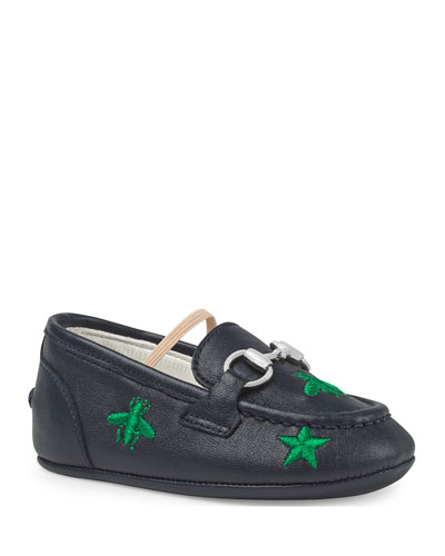 Jordan Bee & Star Embroidered Leather Loafers, Baby/Toddler