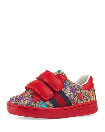 bd3592c872e Quick Look. Gucci · New Ace GG Supreme Rainbow Star-Print Sneakers