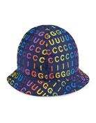Gucci Kids' Rainbow Logo Print Bucket Hat